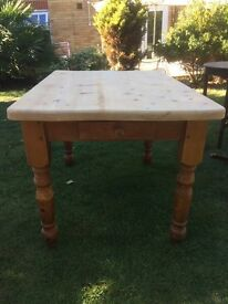 Chunky Pine Vintage Rustic Farmhouse Table