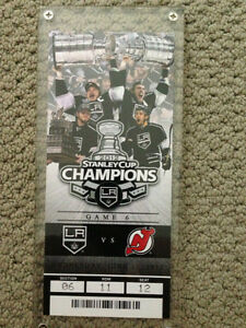 LA KINGS 2012 NHL CHAMPS- Commemorative Ticket & Display Case