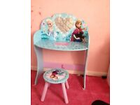 Frozen dressing table and stool
