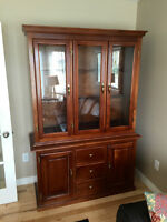 Beautiful Solid Maple Buffet and Hutch