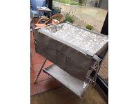 Grey nylon folding changing table
