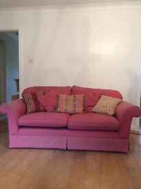 Pair of matching Laura Ashley sofas