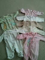 Huge lot of a newborn cloths (68 pieces)