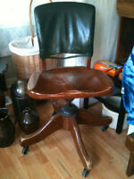 Antique Wood Office Chair Midland