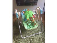 Fisher Price Musical jungle swing chair