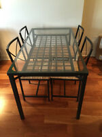 Ikea Glass Dining Room Table & 4 Chairs