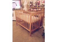 Mamas & papas cot and brand new mattress