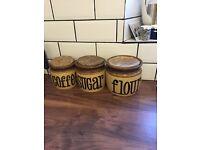 Retro coffee sugar flour pots / jars