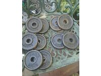 10 X Cast iron York weights 1.25 kg each
