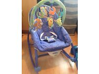 Baby rocker with box - fisher price