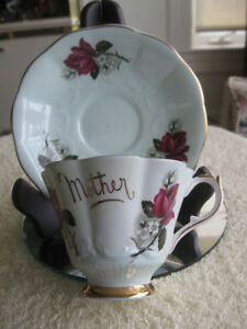 VINTAGE QUEEN ANNE BONE CHINA CUP / SAUCER for MOTHER