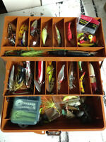 Coffre a peche plein Old pal- full fishing tackle box
