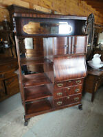 ANTIQUE  SIDE BY SIDE BOOKCASE/ DESK