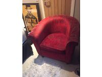 Next Designer Red Armchair
