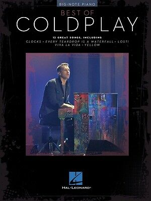 Best of Coldplay for Big-Note Piano Sheet Music Big Note Book NEW