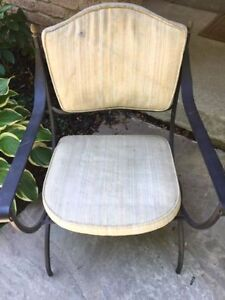 vintage wrought iron chair