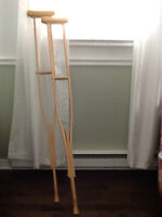 Adjustable wooden crutches for sale