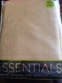 Pair of fully lined pencil pleat curtains