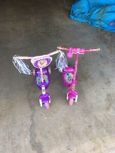 2 huff princess scooters.