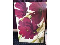 Flower canvas, oil painting