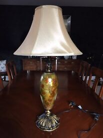 Decorative table lamp and shade
