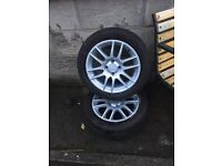 Renault Clio alloys and tyres 185/55/15