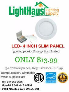 LED Light bulb BLOWOUT--Clearance sale led pot light, slim panel
