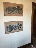 Pottery Barn Motorcycle Wood Pictures