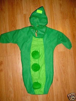 BABY INFANT GREEN STRING BEAN HALLOWEEN COSTUME-NEWBORN