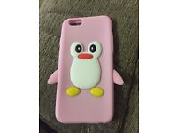 Pink silicone phone cover