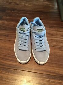 Baby Blue Puma Suede Classic Women's Trainers Size 5