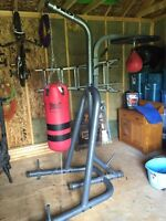 Punching bag and speedbag with stand