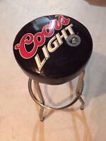 Vintage Coors Light bar and guitar stool