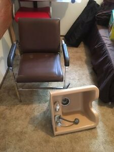 Shampoo sink & salon chair