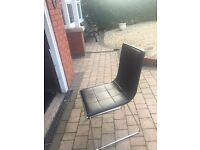 4 black &a white Dining chairs