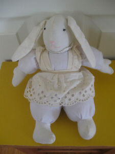 LITTLE LOP-EARED BUNNY RABBIT in a PINAFORE