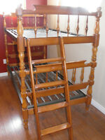Beautiful Roxton solid maple bunk bed