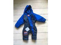 Togz Wet Weather Fleece Lined Rain Suit 9-12months
