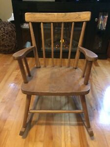 Old Wooden Child's Rocking Chair