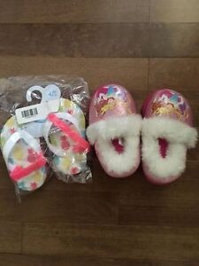 Toddler flip flops, and some swim diapers