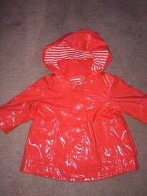 Next orange raincoat 3-6months