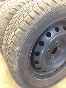 FOUR GRISLAVED WINTER TIRES - 195/55/R15 89T London Ontario image 1