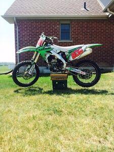 2011 Kawasaki kx250f $4500 or trade for sled