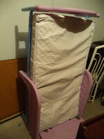 Girls Toddler Bed with Mattress. Also have fitted Pink Sheet.