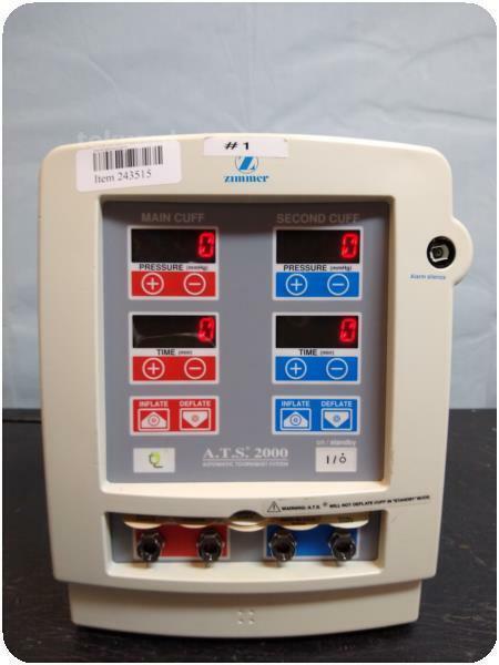ZIMMER A.T.S. 2000 AUTOMATIC TOURNIQUET SYSTEM @ (243515)