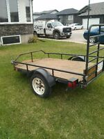 Steel 6x4 cargo trailer. New treated deck. Perfect condition