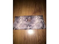 Ted Baker snake print clutch