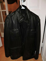 NICE WINTER, FALL  MANS LEATHER JACKET