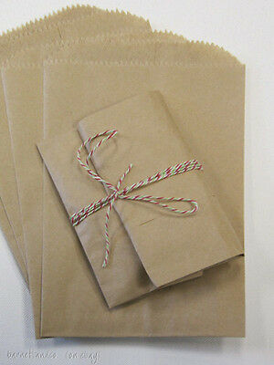 100 Brown Kraft Paper Bags 5 X 7.5 Good For Candy Buffets Merchandise