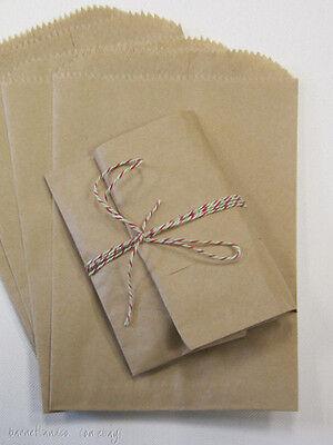 100 Brown Kraft Paper Bags, 6.25 x 9.25